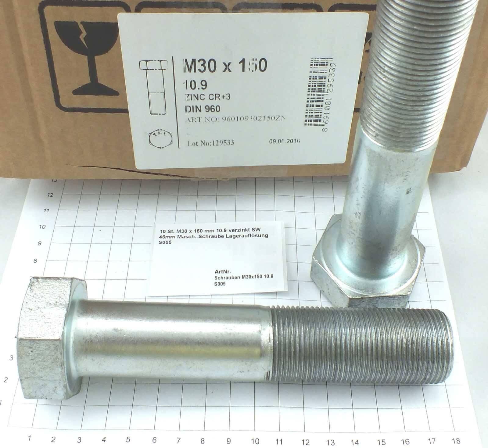 Materialfarbe Senkkopfschraube mit Innensechskant Hochfest 10.9 DIN 7991-50 St/ück Bolt Base - 8mm // M8 x 60 mm Schwarz
